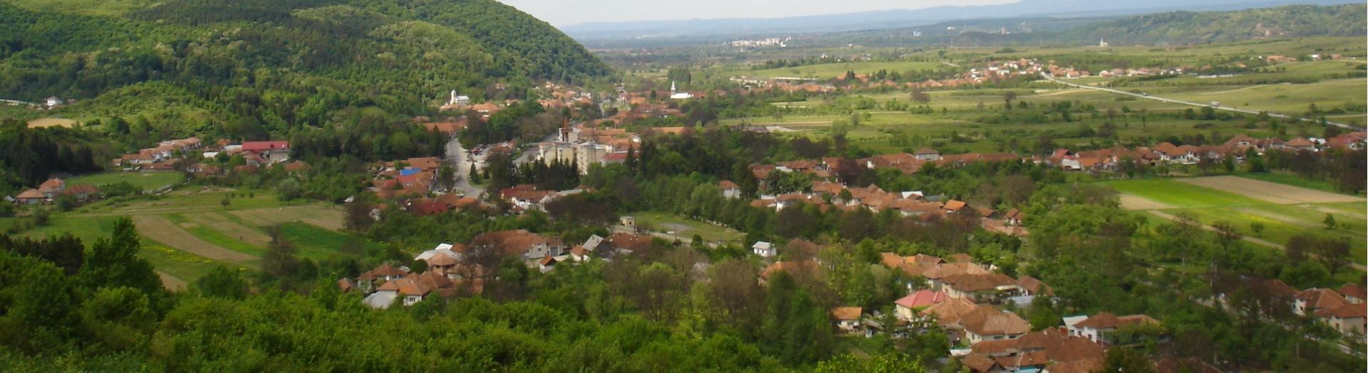Vedere panoramică a orașului Vașcău